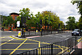 SP0583 : Pedestrian crossings and box junction on Bristol Road, Bournbrook by Phil Champion