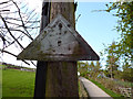 SD9926 : Unusual road sign on Wood Hey Lane by Phil Champion