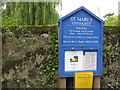SU8423 : Notice board for St Mary's Church Chithurst by Dave Spicer