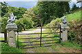 SX8778 : Gate at Ugbrooke House by Hugh Craddock