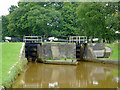 SJ8255 : Paired locks No 45 near Church Lawton, Cheshire by Roger  Kidd