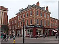 SK7953 : Porters' shop - corner of Newark market square by Neil Theasby