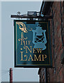 SK0296 : The New Lamp (2) - sign, 12 Bankbottom, Hadfield by P L Chadwick