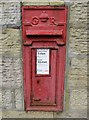SK0296 : George V wall-mounted postbox, Station Road, Hadfield by L S Wilson