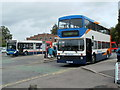 SO3013 : Stagecoach double decker at Abergavenny Bus Station by John Grayson