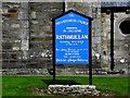C2927 : Notice board, Rathmullan Presbyterian Church by Kenneth  Allen