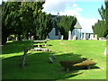 NN9618 : Trinity Gask Church and graveyard by Dave Fergusson