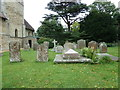 SP8526 : St Michael & All Angels, Stewkley- churchyard by Basher Eyre