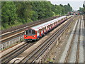 TQ2384 : Railway and underground lines east of Lydford Road, NW2 by Mike Quinn