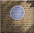 TQ4076 : Charles Gounod Blue Plaque by David Anstiss