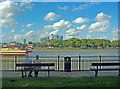 TQ3878 : View of the Isle of Dogs and Canary Wharf from Greenwich by Julian Osley
