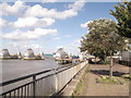TQ4179 : Thames Path near Thames Flood Barrier by David Anstiss