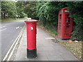 TQ4277 : K6 Telephone Box and Post Box on Charlton Park Lane by David Anstiss