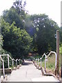 TM2649 : Steps of the footpath to Ipswich Road &amp; Woodbridge Cemetery by Adrian Cable