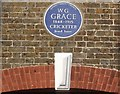 TQ4173 : Plaque to W.G. Grace by David Anstiss