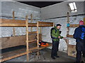 NN2873 : Inside the Lairig Leacach bothy by Richard Law