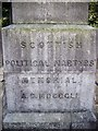 TQ3575 : Inscription on the Scottish Political Martyrs Memorial Nunhead Cemetery by PAUL FARMER