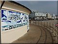 TQ1402 : Worthing: dolphin mural on the Lido by Chris Downer