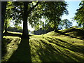 NJ5340 : Huntly Castle, morning sunlight by Peter Barr