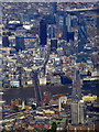 TQ3280 : The Shard and the Gherkin from the air by Thomas Nugent