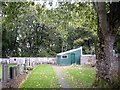 NJ5240 : Gardener's shed, Huntly Cemetery by Stanley Howe