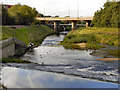 SJ8390 : River Mersey Weir, Northenden by David Dixon