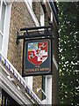 TQ3479 : The Stanley Arms, Pub Sign, Bermondsey by David Anstiss