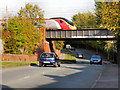 SJ8887 : Railway Bridge, Adswood Road by David Dixon