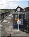 ST5684 : Solar-powered help point, Pilning station by Robin Stott