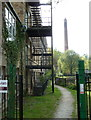 SK5164 : Mill and chimney, Pleasley Vale by Andrew Hill