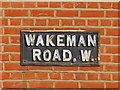 TQ2382 : Sign for Wakeman Road, NW10 by Mike Quinn