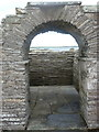 HY4543 : Tuquoy: looking through the church arch by Chris Downer