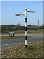 SK6733 : Fingerpost near Owthorpe by Alan Murray-Rust
