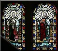 TQ3780 : St Matthias, Poplar High Street, Poplar - Stained glass window by John Salmon