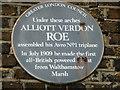 Photo of Alliott Verdon Roe blue plaque