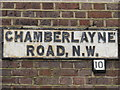 TQ2383 : Sign for Chamberlayne Road, NW10 by Mike Quinn