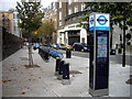 TQ2978 : Barclays Cycle Hire Docking Station, Greycoat Lane by PAUL FARMER