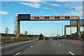 TL1878 : A1(M) - gantries on Alconbury Hill by Robin Webster