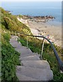 SX2553 : Steps to Looe Beach by Derek Harper