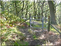 SE0026 : Gate on Hebden Royd FP 17, Mytholmroyd by Humphrey Bolton