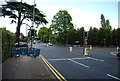 SP0882 : Traffic lights, Wake Green Rd by Nigel Chadwick