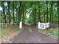 NH7343 : Driveway to Nairnside House by Dave Fergusson