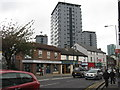 SK3486 : High rise in Sheffield - Mount Street flats by M J Richardson