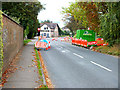 SU0625 : Roadworks near the White Hart by Jonathan Kington