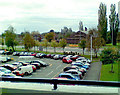 SJ8286 : Ground level car-park at Wythenshawe Forum by Geoff Royle