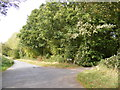 TM3374 : The Street, Huntingfield & entrance to Huntingfield Hall Farm by Adrian Cable