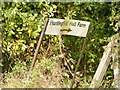 TM3374 : Huntingfield Hall Farm sign by Adrian Cable