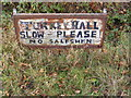 TM3073 : Turkey Hall sign by Adrian Cable