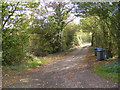 TM3072 : Footpath to the B1117 &amp; Entrance to Grove Farm by Adrian Cable