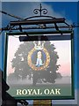 SP9532 : Sign for The Royal Oak, George Street by Mike Quinn